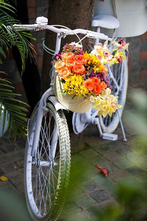 cycle-with-flowers