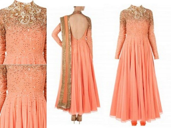 peach-gold-anarkali