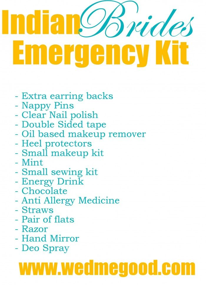 What To Put In Your Bridal Emergency Kit Wedmegood