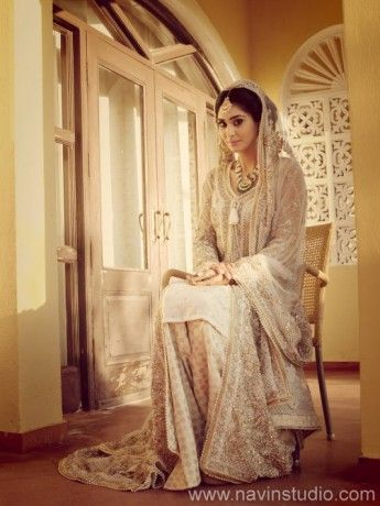 cream-muslim-bridal-dress -by elan