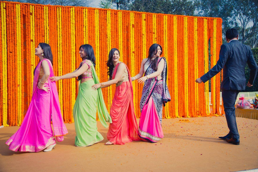 A Wintery Engagement In Delhi With 50 Shades Of Orange