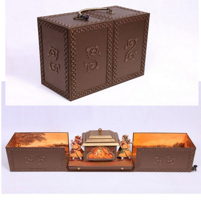 Unique indian wedding invitation boxes that wow wedmegood for Wedding invitation boxes online india