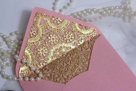 pink-and -gold-chantilly-envelope-liner