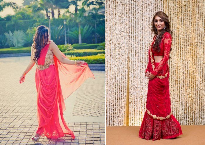Indo-Western Outfit Options for Brides to be ! | WedMeGood