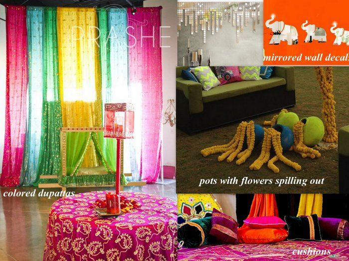 Diy Decor Ideas For Your Mehendi Three Cheap Chic