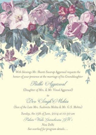 wedding card ridhi