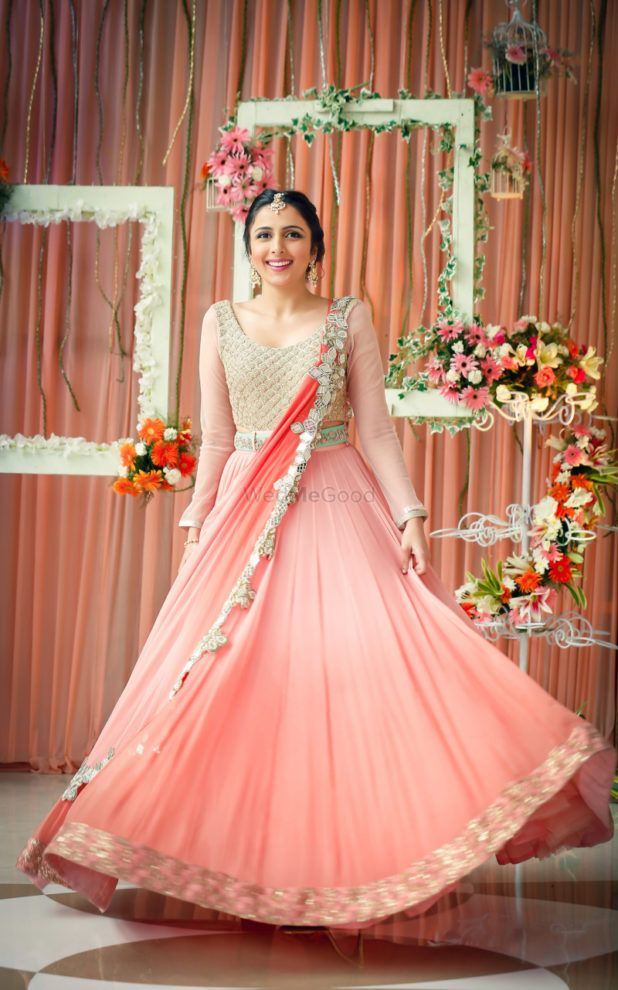 From Light To Bright 12 Peach Lehengas Worn By Real Brides We Are