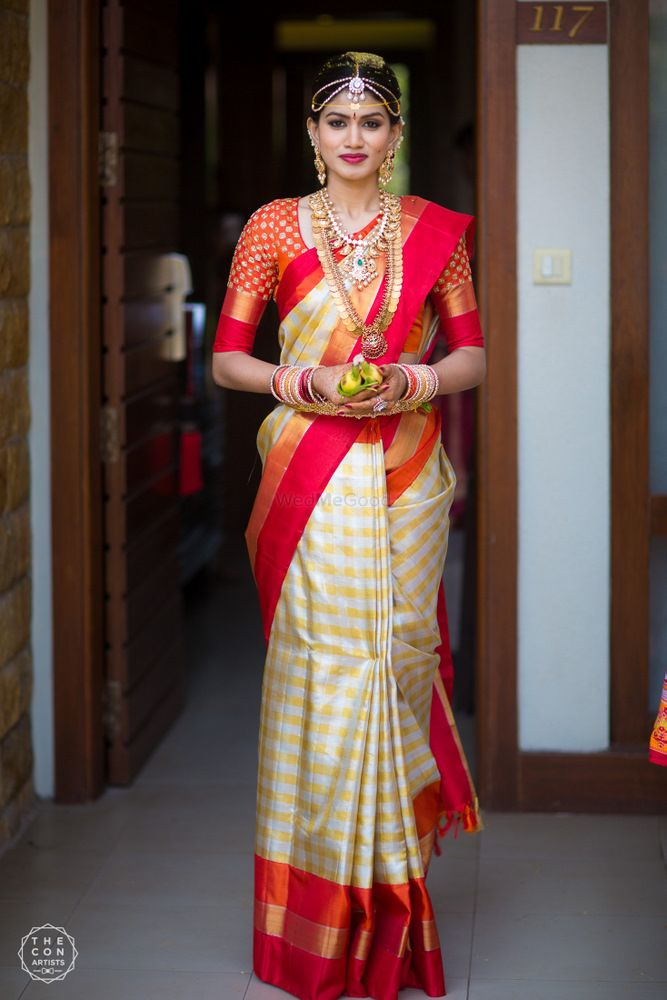 Pretty Kanjeevaram Colour Combinations Worn By Real Brides
