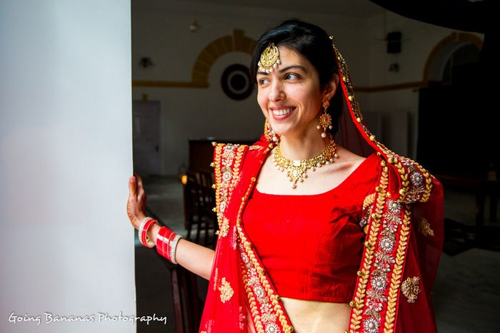 07-red bridal lehenga