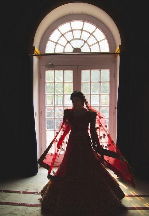 1-red bridal lehenga -001