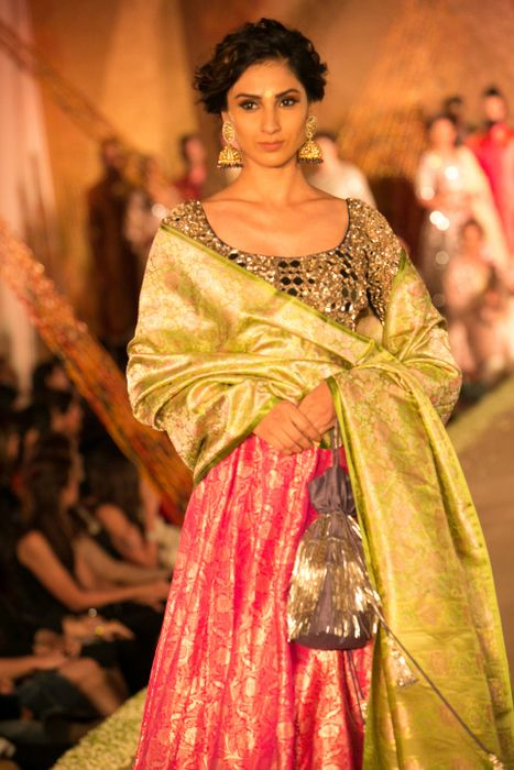 Model in Manish Malhotra - The Regal Threads Collection