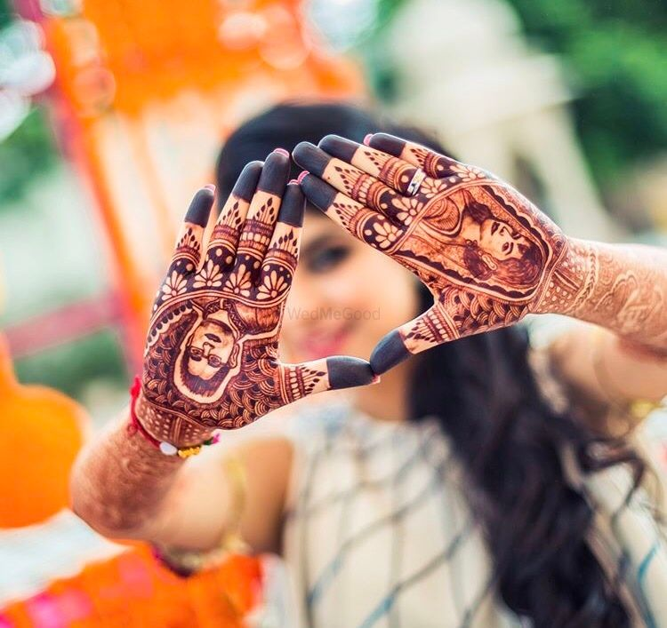 bridal portrait on mehndi design