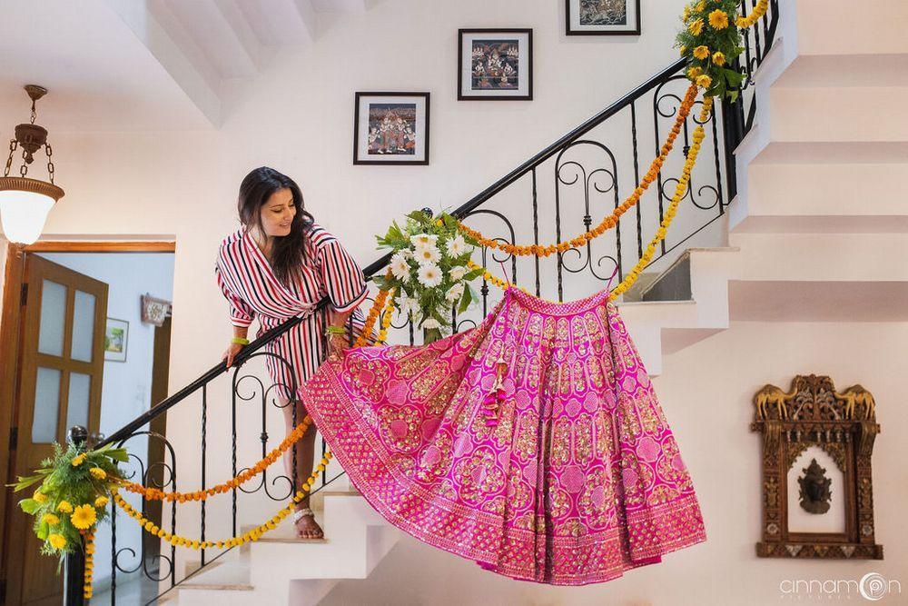 bridal lehenga for short height