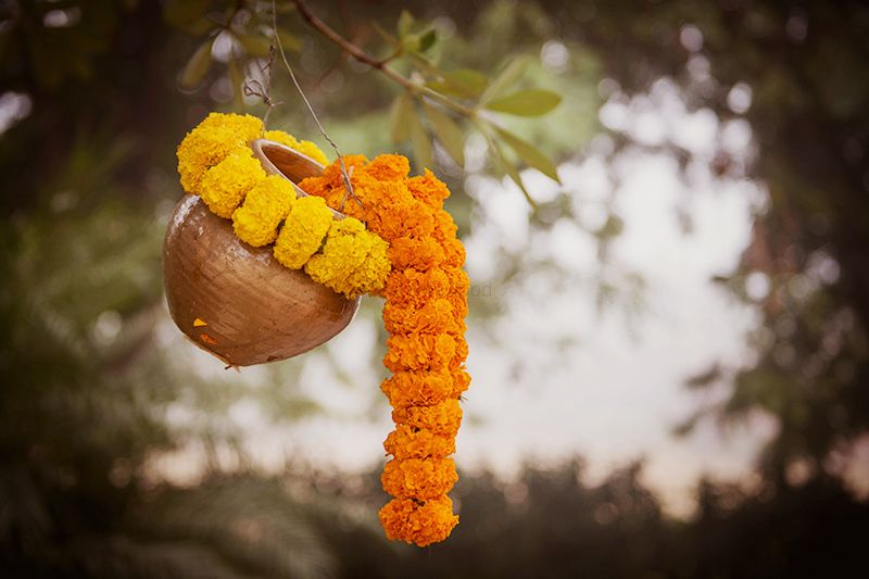 Haldi decor ideas with flowers