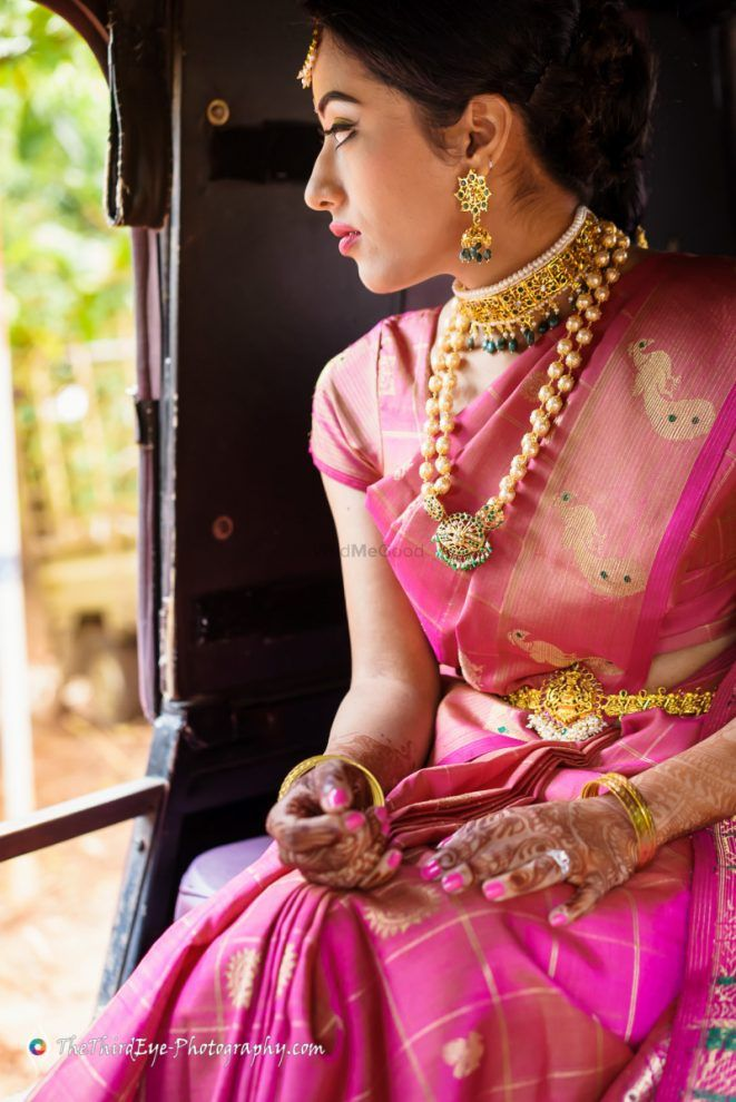 Bright Pink Kanjivaram Pattu Saree