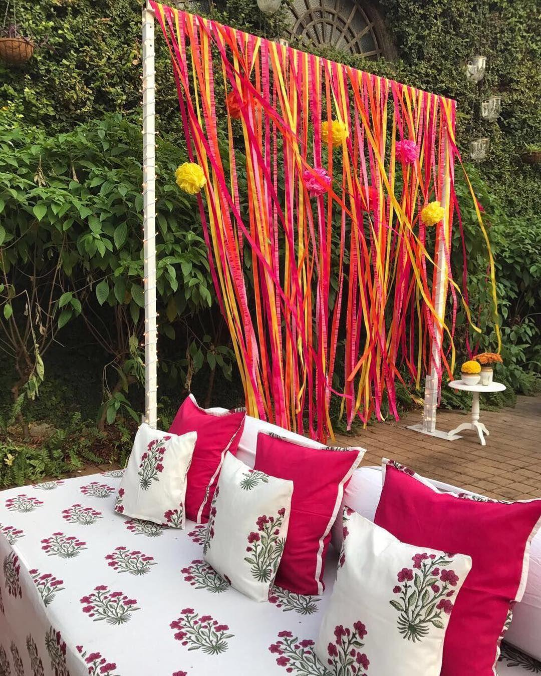DIY Haldi decor ideas for backdrop