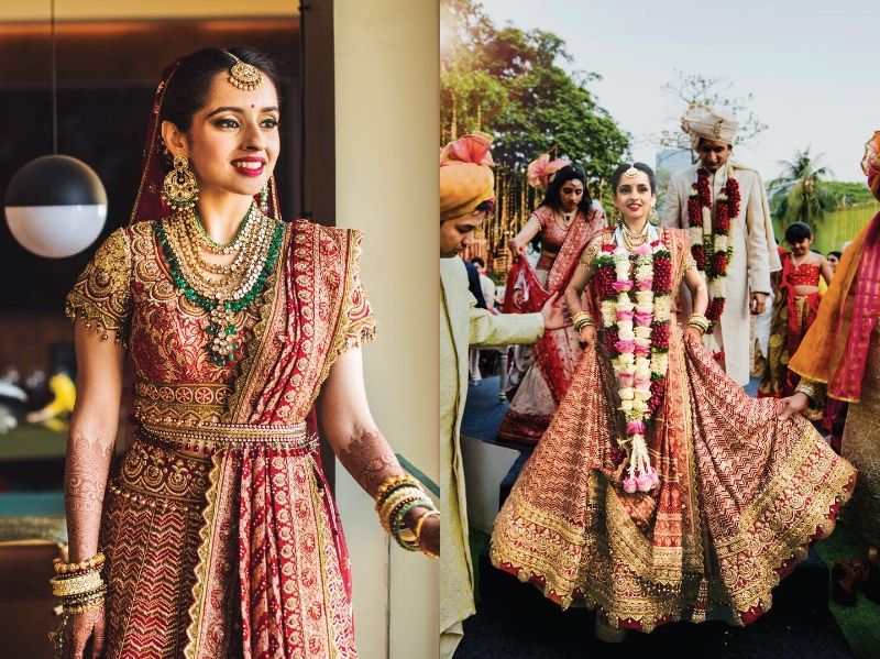 9faeba88 50+ Of The Most Beautiful Bridal Lehengas We Spotted On Real Brides ...