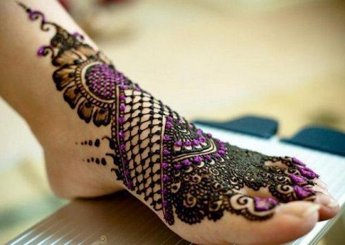 arabic mehndi for feet