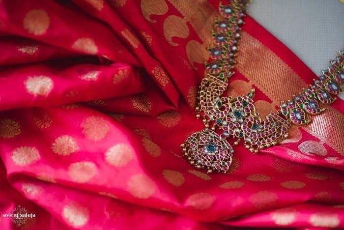 Fuchsia Banarasi Saree