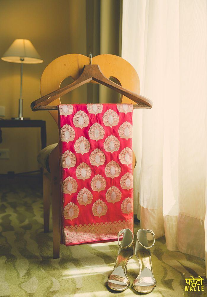 Red Bridal Banarasi Saree