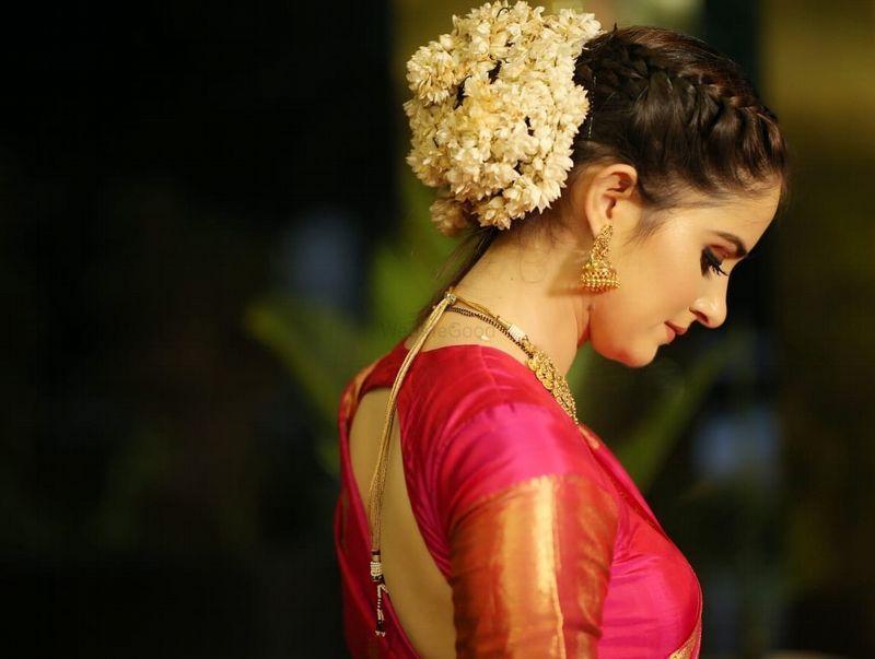 Braid hairstyle with Gajra Bun