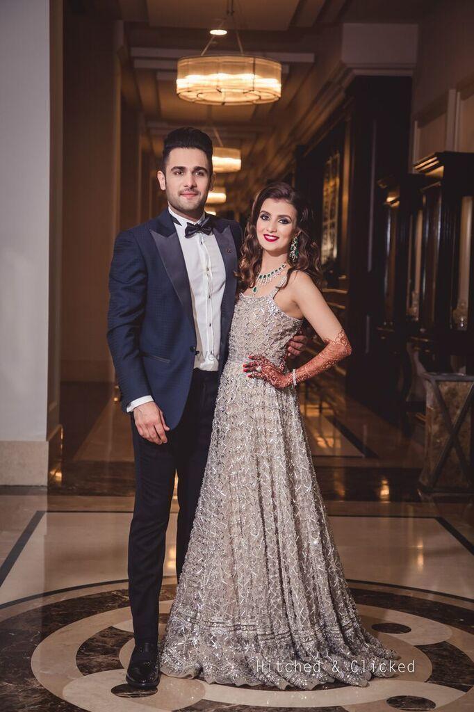Embellished Bridal sheath gown
