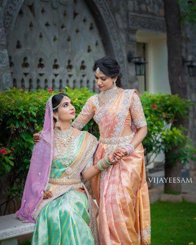 Pastel green bridal kanjeevaram saree