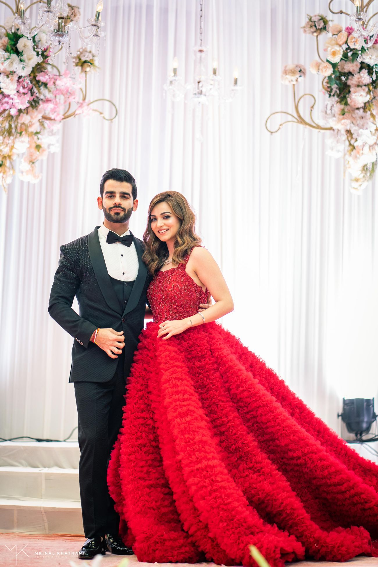 Red Bridal ball gown