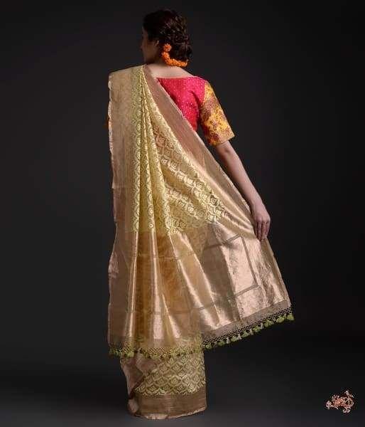 Golden Tissue Banarasi Saree