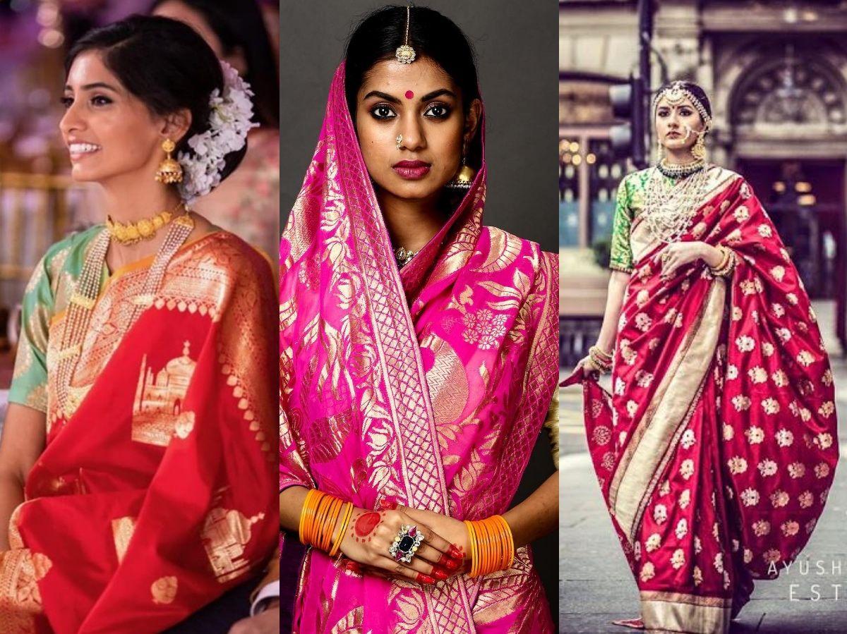 Ayush Kejriwal Bridal Banarasi Saree