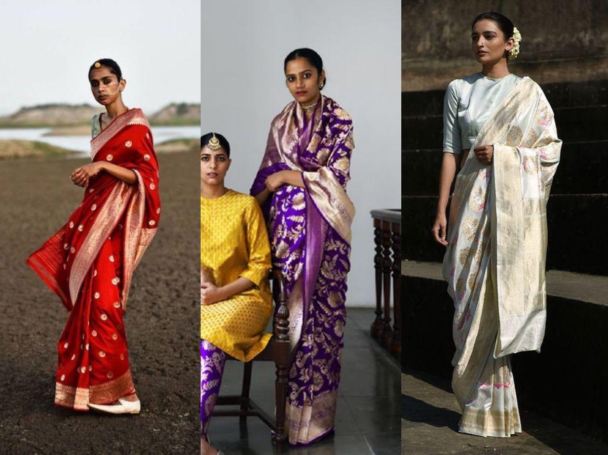 Raw Mango Bridal Banarasi Saree