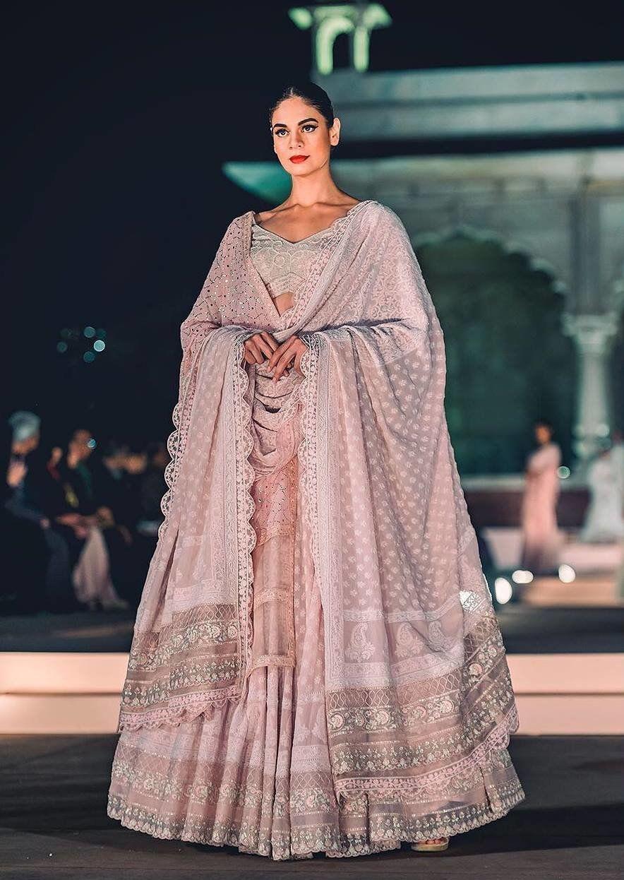 Rahul Mishra Chikankari Bridal Lehenga