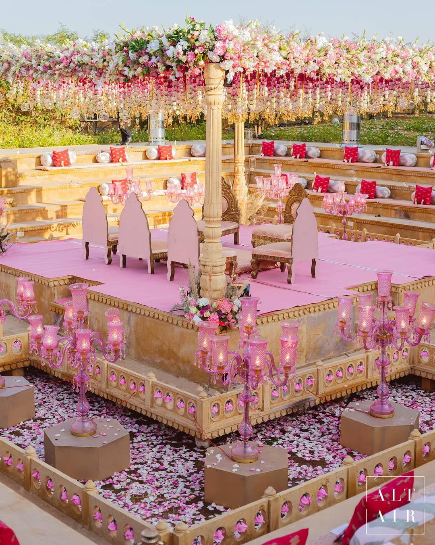 Elegant Floating Mandap Styles For Your Wedding, 59901482 1182971768531495 6683285903284082931 n