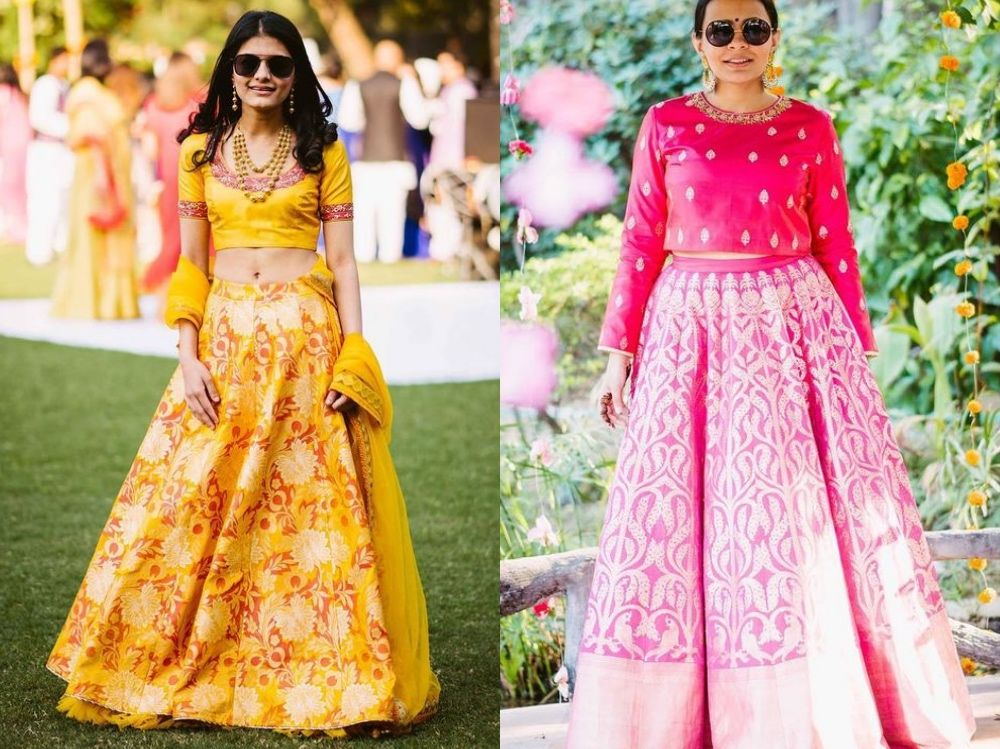 e7db75a696 They do some fabulous Banarasi lehengas, and in so many colours and styles!  From traditional-looking ones to modern ones with interesting new  silhouettes, ...