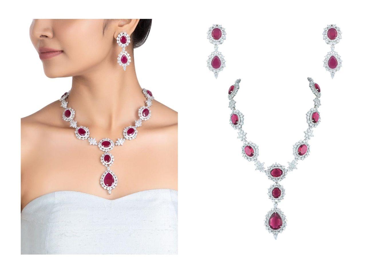 semi precious designer necklace