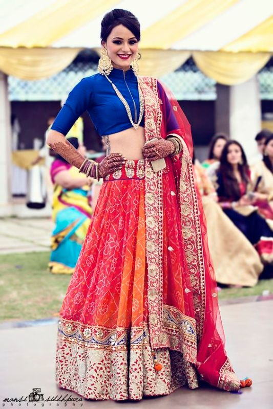 30051a62bf Isha Ambani too took her mum's Bandhani dupatta with her bridal lehenga,  and if you're looking for labels which work with Bandhani, then we've got  some ...