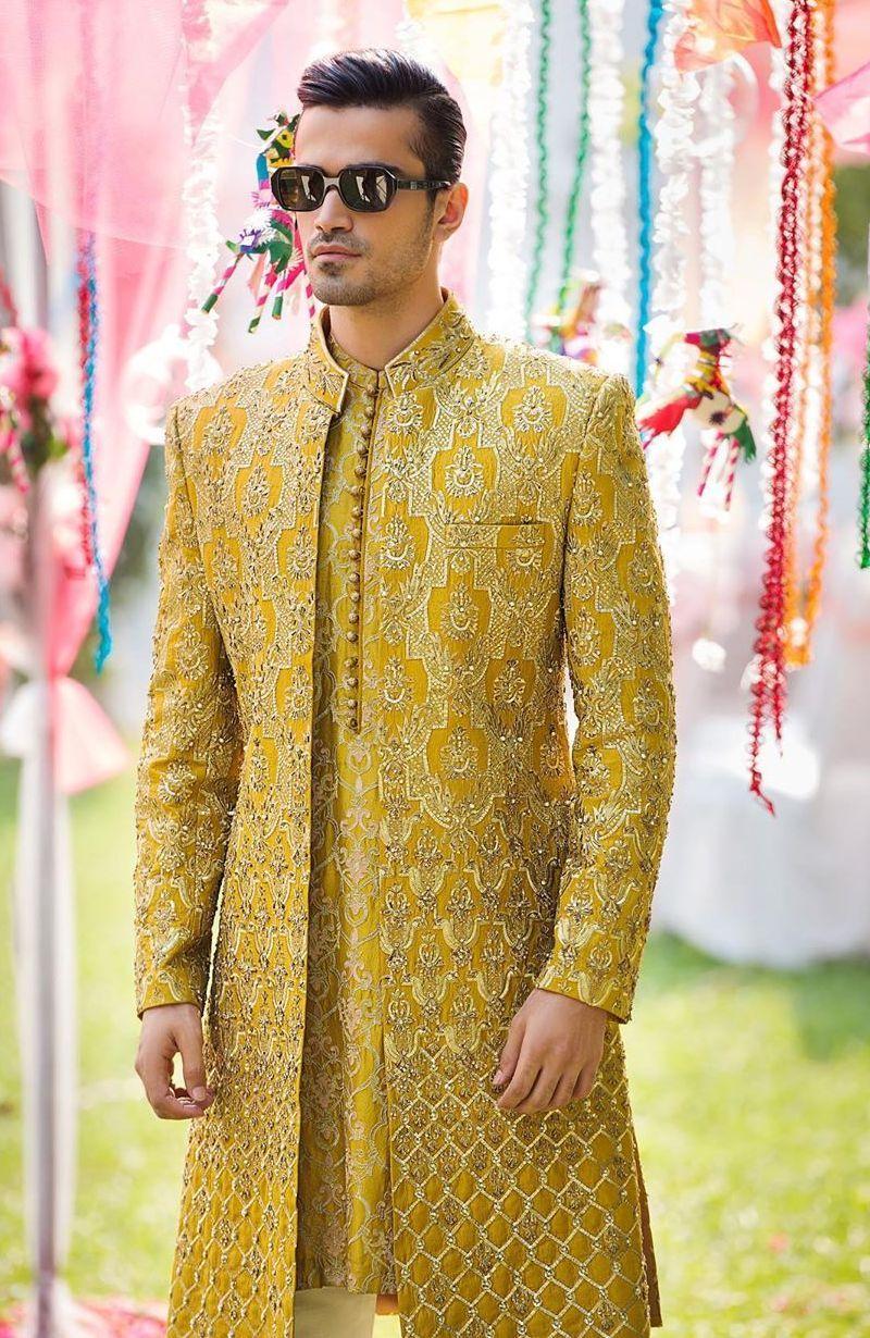 Saffron Designer Sherwani