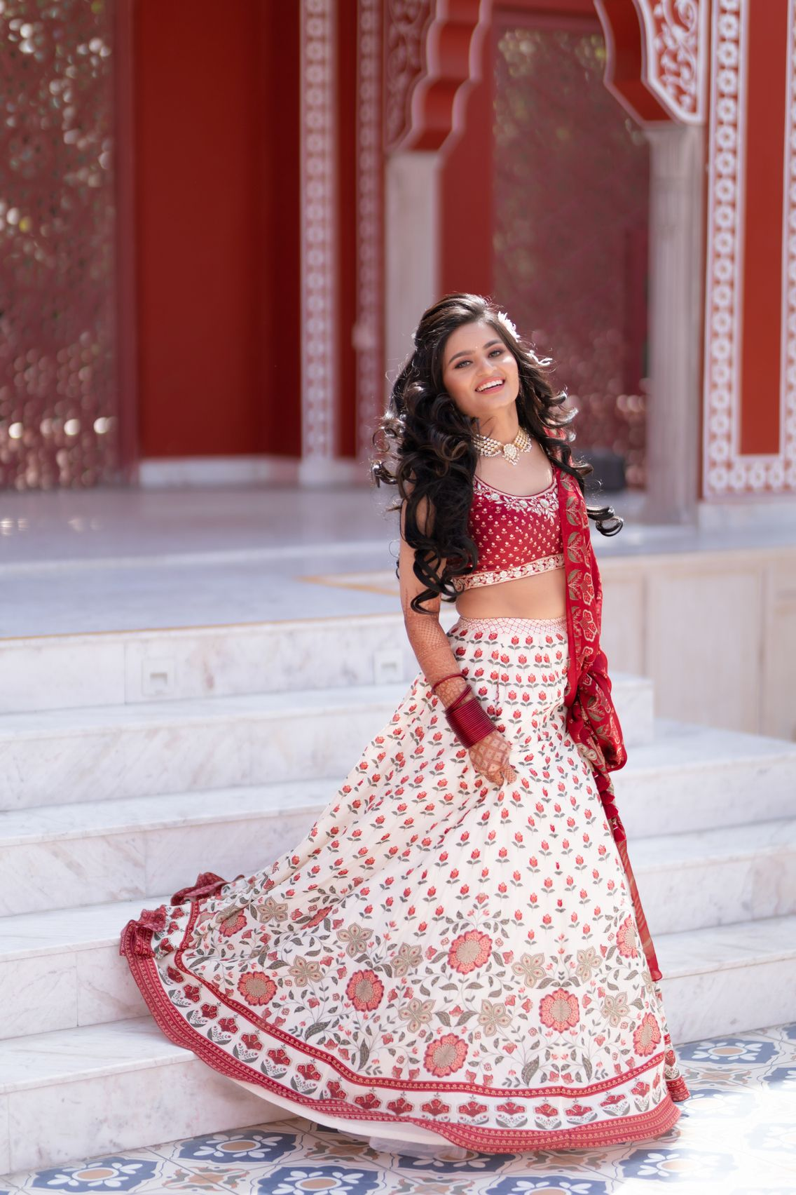 Mehendi outfit for brides to be