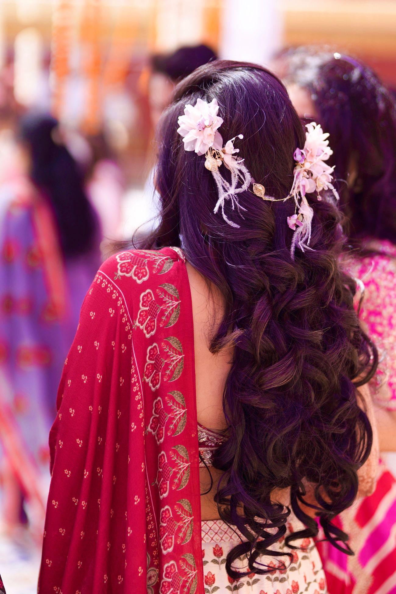 Mehndi hairstyle ideas for brides