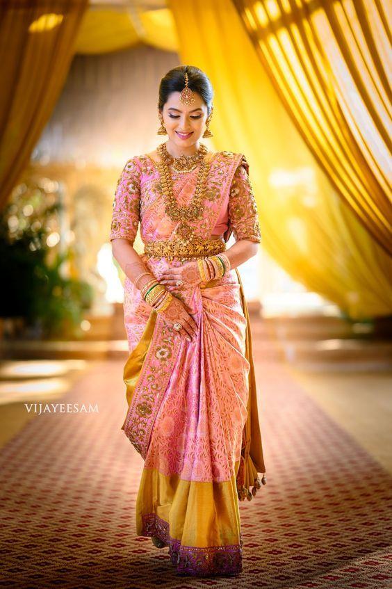 Pink Kanjeevaram Saree