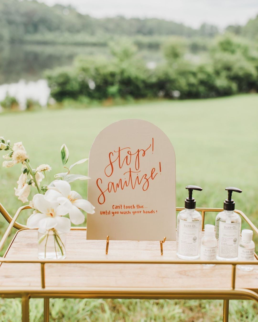Simple Sanitizer Stations for Safe and No Germ Intimate Weddings, 115740459 312643440102043 1315198447501195681 n