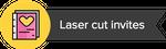 Laser cut invites