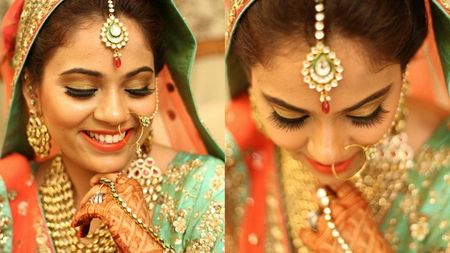 A winter wedding in Delhi with peach hues..