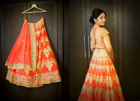 Vibrant mumbai wedding with a pop of coral !