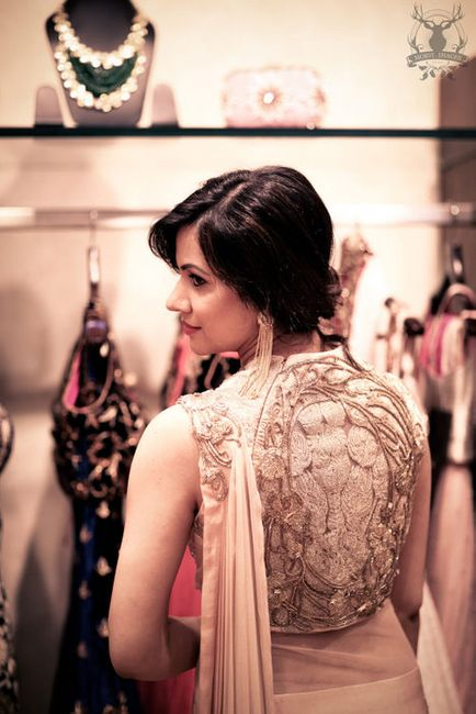 WMG Red Carpet bride at Aza: The shell pink sari-gown