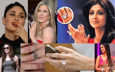 Princess-Cuts And Platinum - Best Hollywood & Bollywood Engagement Rings To Gawk At!