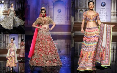 Day 1 at BMW India Bridal Week: Abu Jani & Sandeep Khosla's  Varanasi Collection!