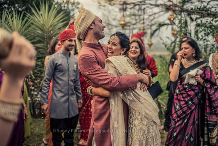 Nat & Phil's Jungle-Inspired Indo-French Destination Wedding In Goa!