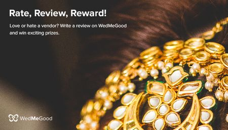 Rate, Review,  Reward : Win fabulous gold plated jewellery by reviewing your wedding vendors !