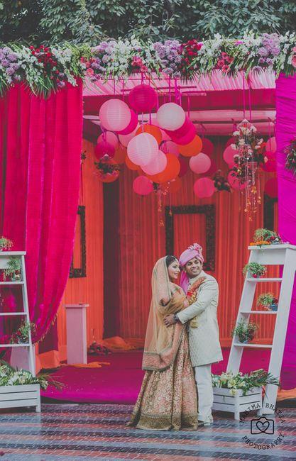 Winter Morning Wedding in Full Pink!